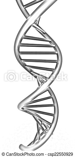 Clip Art of DNA structure model on white csp22550929 - Search ...