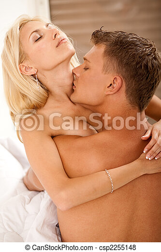 couple lovers passionate loving and kissing - csp2255148