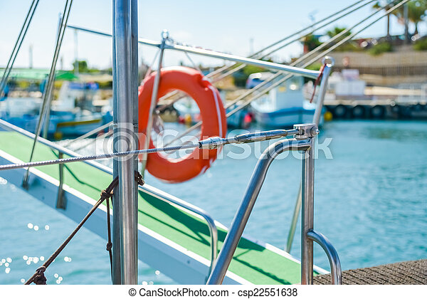 gangway of the ship Sea