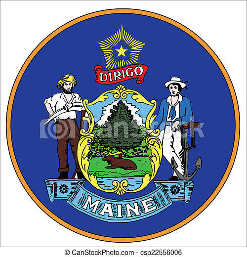 Maine state Vector Clip Art EPS Images. 504 Maine state clipart ...