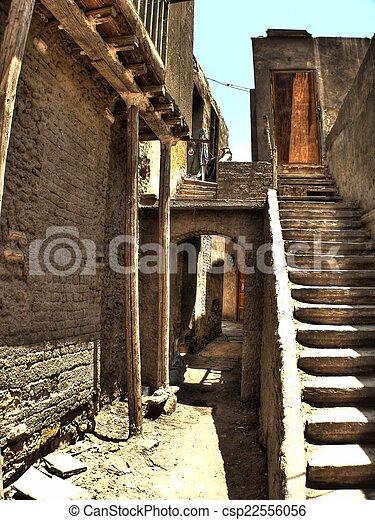 Narrow alley - csp22556056