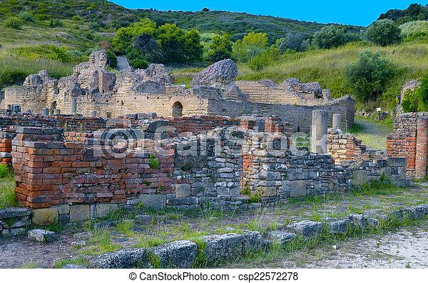 image de ville ancien italie ruine ascea velia ruine csp22572278 recherchez des. Black Bedroom Furniture Sets. Home Design Ideas