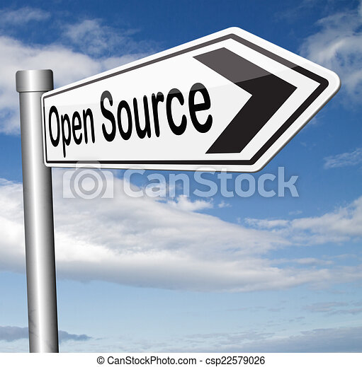 Clip art of open source program software program or economy freeware csp22579026 search Open source illustrator