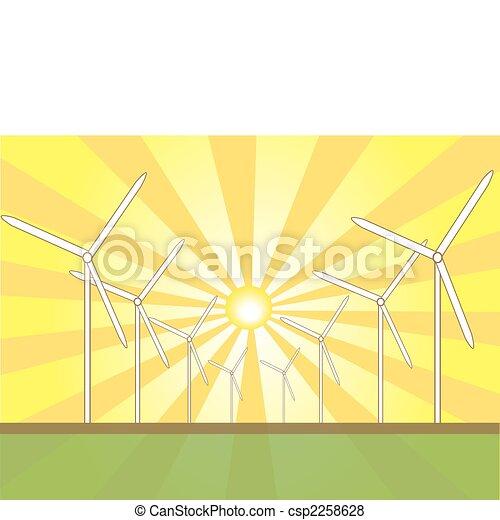 Solar Wind Mills - csp2258628