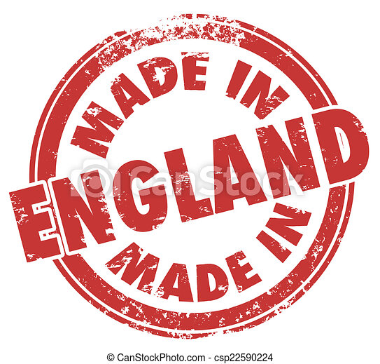 Made in England Stamp Great Britain United Kingdom UK - csp22590224