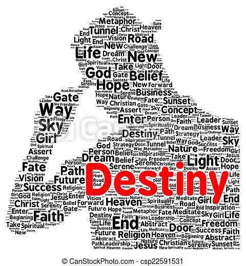 Destiny word cloud shape
