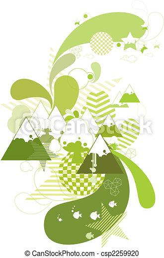 abstract mountain - csp2259920