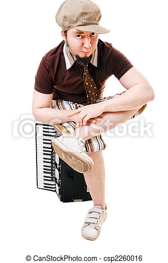Cool musician with concertina - csp2260016