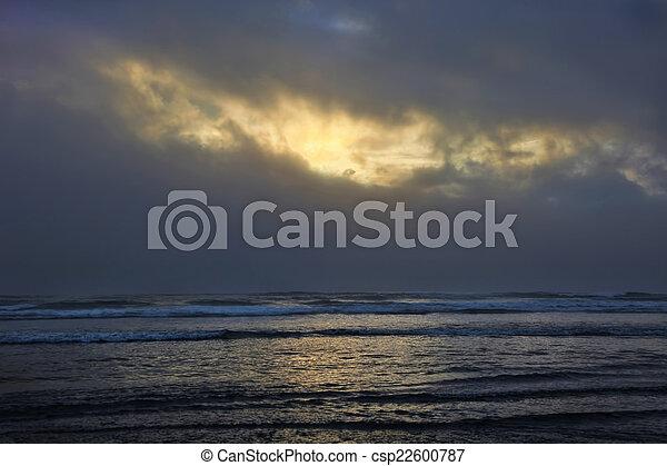 Sun Breaks Through Clouds - csp22600787
