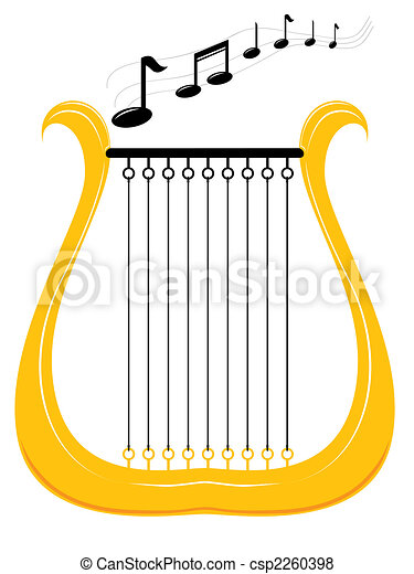 Classical harp Clipart and Stock Illustrations. 907 Classical harp ...