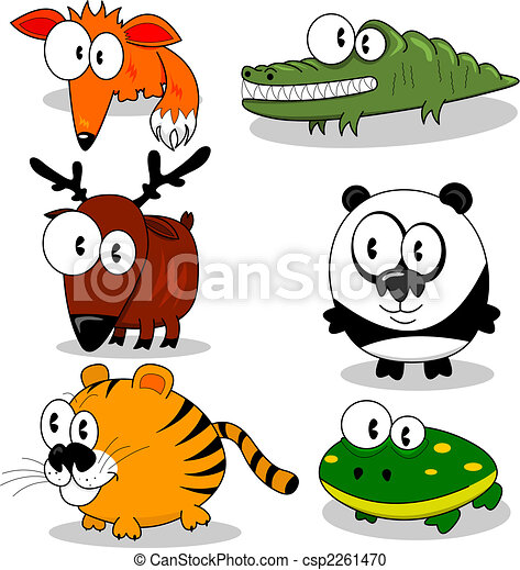 Cartoon animals - csp2261470