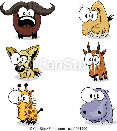 Cartoon animals - csp2261490