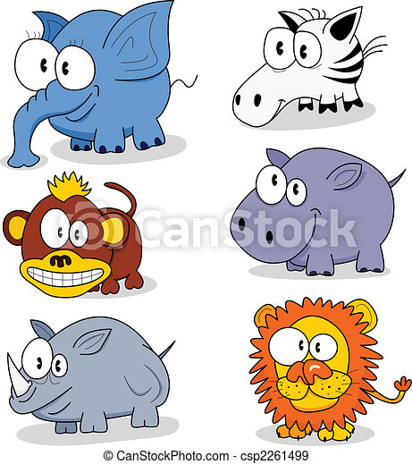 Cartoon animals - csp2261499