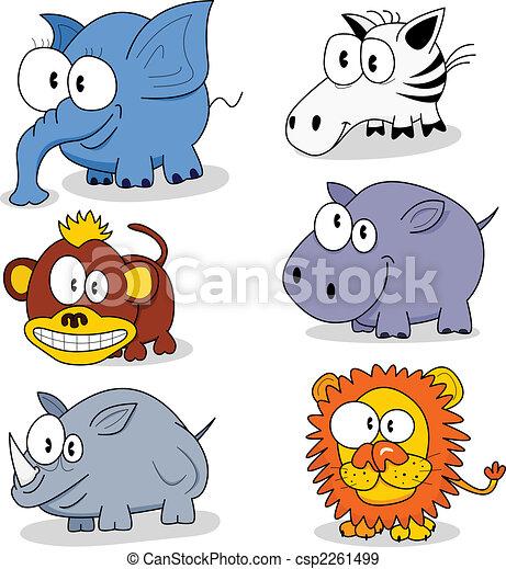 Cartoon animals  - csp2261499