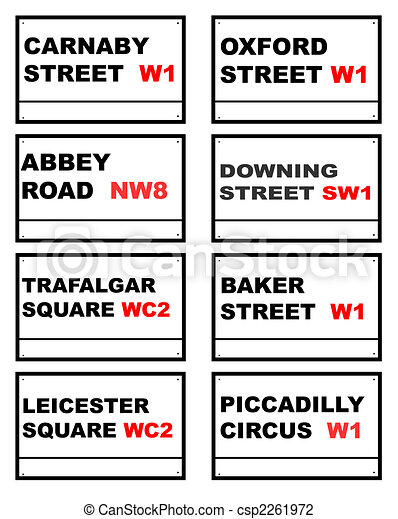 Famous London road signs - csp2261972