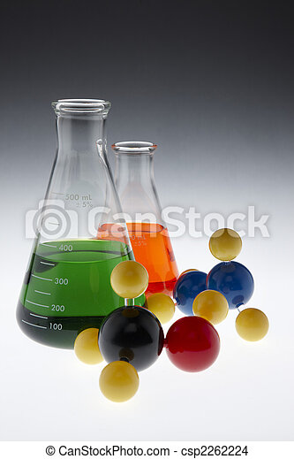 Colorful chemicals and molecules - csp2262224