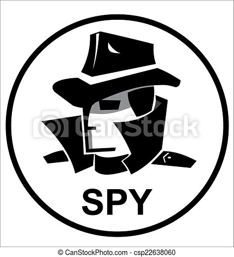 Clip Art Spy Clipart spy illustrations and clipart 16454 royalty free agent with hat glasses coat in black white