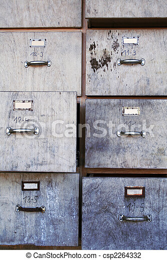 old filing cabinet - csp2264332