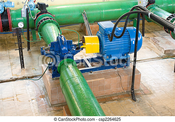 The engine with the pump - csp2264625