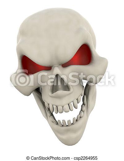 Evil Skull Face - csp2264955