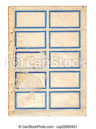 old sticker - csp22650431