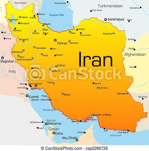 Clip Art Vektor av iran, land - abstrakt, vektor, färg ...