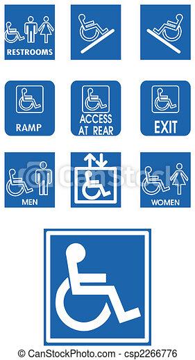 Vector blue signs - csp2266776