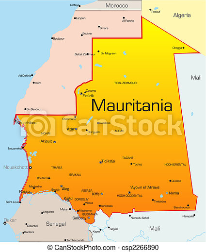 Mauritania country - csp2266890