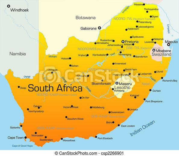 すべての講義 アフリカ地図 フリー : South Africa Country Clip Art