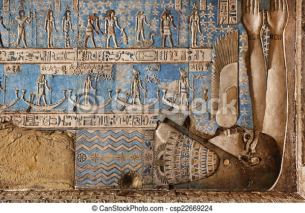 ceiling of the Dendera Temple in Egypt