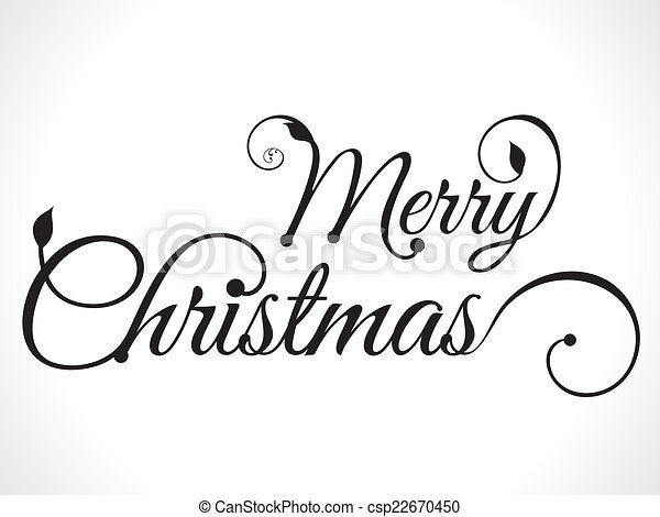 merry christmas text background - csp22670450
