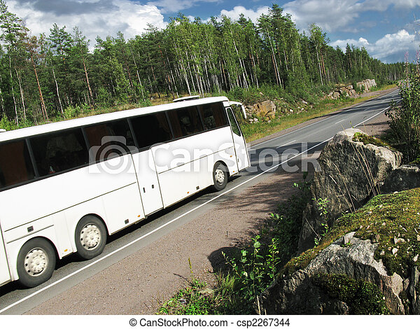 white bus - csp2267344