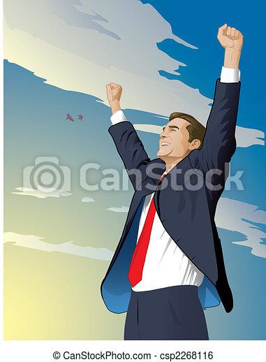 Businessman Wins - csp2268116