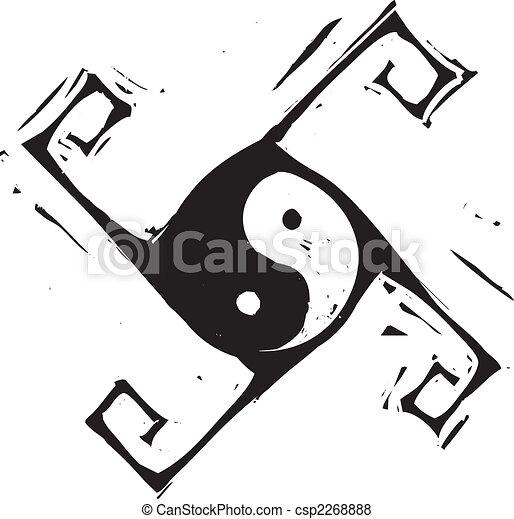 Yin Yang Cross - csp2268888