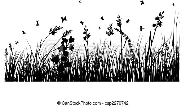 meadow silhouettes - csp2270742