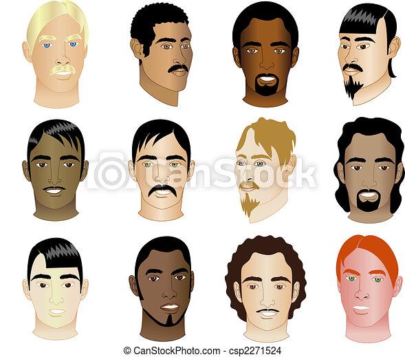 12 Men Faces 1 - csp2271524