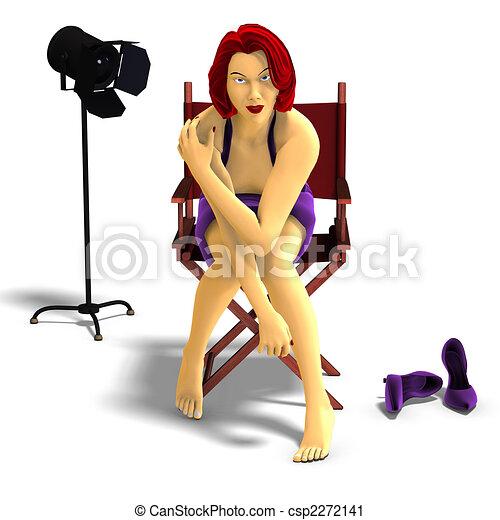 attractive cartoon female - csp2272141