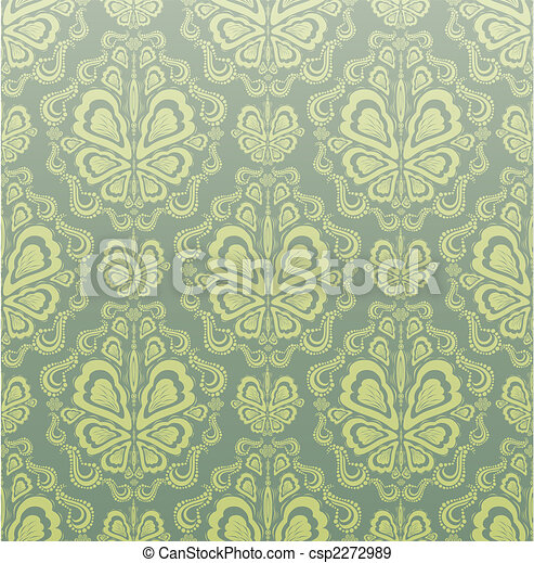 Decorative seamless floral ornament - csp2272989