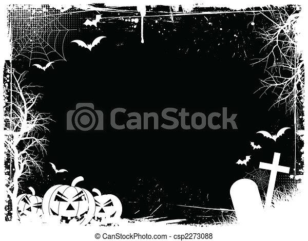 Grunge halloween border - csp2273088