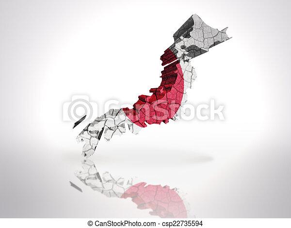 Map of  Japan - csp22735594