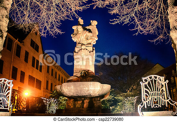 Skat Fountain Altenburg Germany