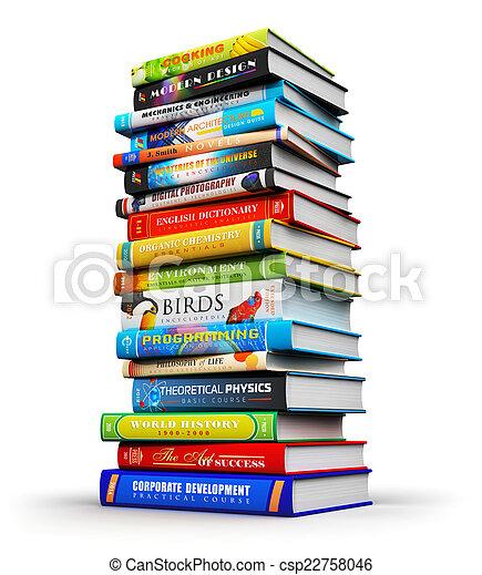 Bücherstapel clipart  Stockfoto von farbe, groß, buecher, stapel, gebundene ausgabe ...