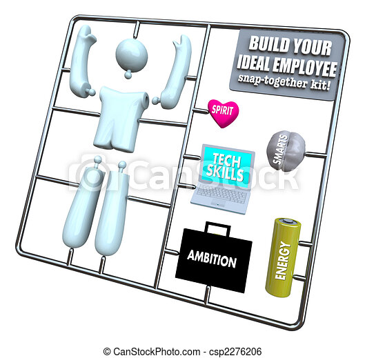 Build Your Ideal Employee - Model Kit - csp2276206