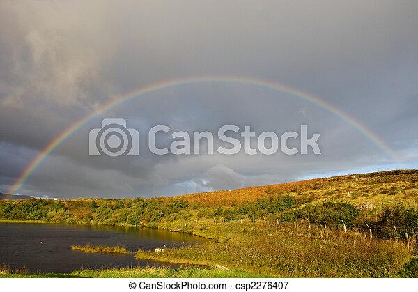 Wonderful rainbow in Scotland - csp2276407