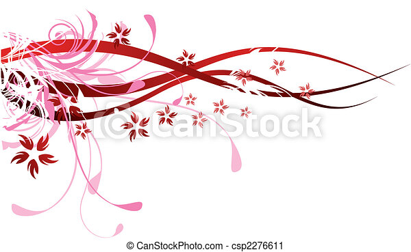 Red Flourishes - csp2276611