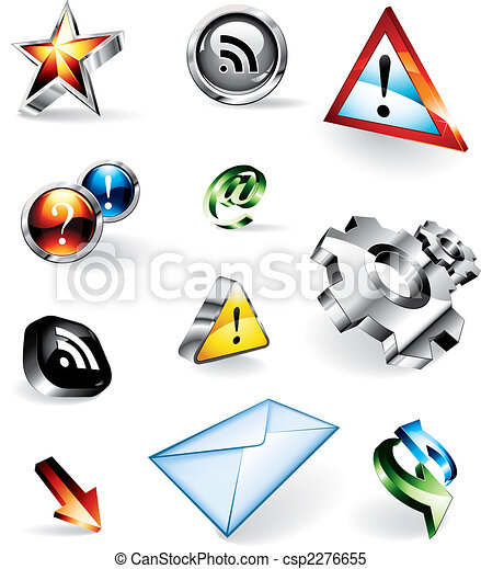 Shiny 3D Vector Icons - csp2276655