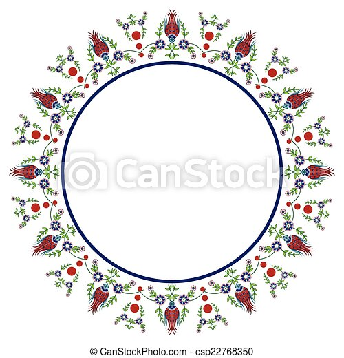 Ottoman Circle Clip Art