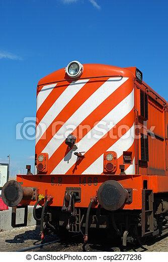 Antique and orange transportation train - csp2277236