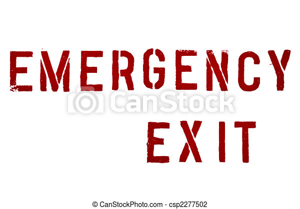 Emergency exit - csp2277502