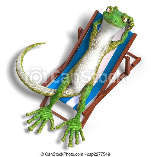 funny toon gecko - csp2277549